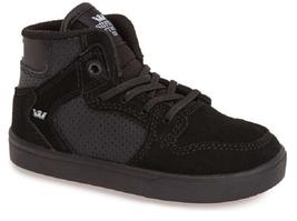 Supra Boys' Vaider Sneakers - Walker, Toddler, Black, Size US 5, EUR 21 - $32.66