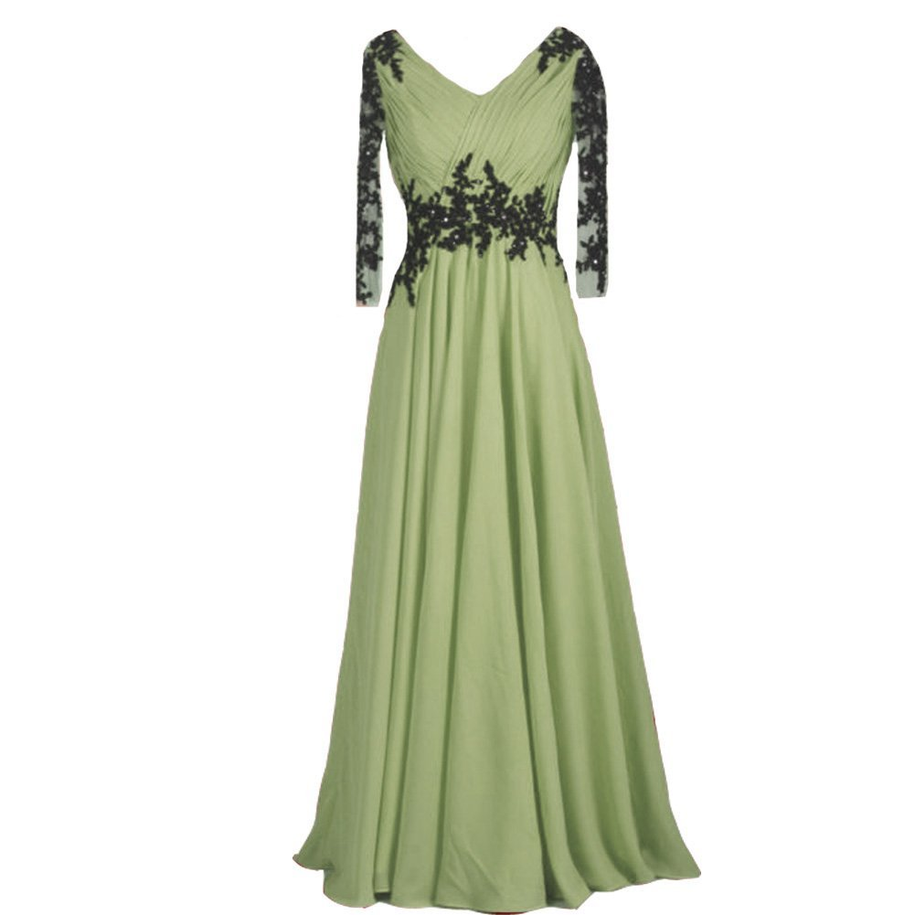 1c58864038 51fwohtixwl. 51fwohtixwl. Previous. Kivary Vintage Sheer Long Sleeves V  Neck Beaded Formal Prom Evening Dresses Sage