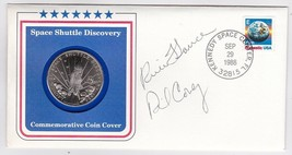 DISCOVERY STS-26 LAUNCH COVER WITH $5 MARSHALL ISLAND COIN AUTOGRAPHED 2... - $28.03