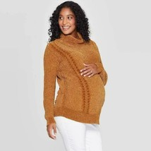 "Maternity Chenille Sweater - Isabel Maternity by Ingrid & Isabelâ""¢ Gold XL - $30.00"