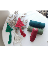 Macrame Tree Ornament / Christmas Ornament / Tree Ornament / Handmade Or... - $8.91+