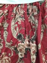 RALPH LAUREN Marseilles Danielle Red Floral WESTERN KING Dust Ruffle Bed... - $64.35