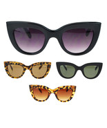 Womens Thick Plastic Frame Retro Style Cat Eye Sunglasses - $10.95