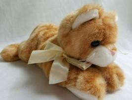 """Bearington Plush Stuffed Animal Orange Soft Kitty Warm Cat Kitten 12"""" - $22.95"""