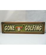 GONE GOLFING Sign Mid Century Deco Sport Golf Décor - $29.00