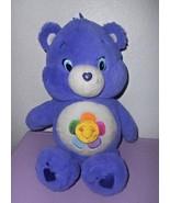 Harmony Care Bear Just Play Plush Stuffed Animal Purple Flower 2014 - $14.30