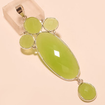 Natural Turkish Chalcedony Gemstone 925 Sterling Silver Pendant Cocktal Jewelry - $23.96