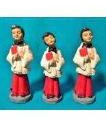 3 Christmas Composition Figurines Antique RARE Choir Girl Boys Catholic ... - $29.69
