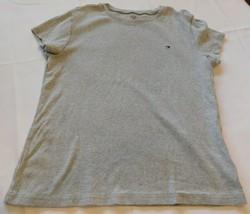 Tommy Hilfiger lt grey heather **See Measurements womens cotton t shirt EUC - $18.70