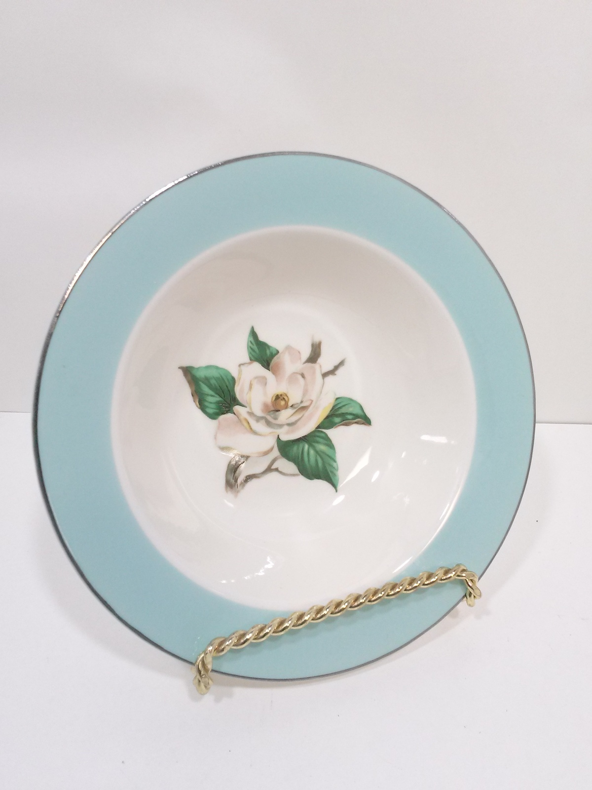 Primary image for Turquoise Magnolia Lifetime China Berry Bowl LTC12 by Lifetime