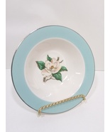 Turquoise Magnolia Lifetime China Berry Bowl LTC12 by Lifetime - $27.99