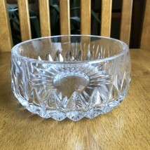 "Gorham Nachtmann Althea 7 5/8"" Lead Crystal Fruit Bowl Vertical Cut - $34.65"