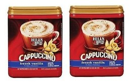 Hills Bros French Vanilla Cappuccino Drink Mix 2 Canister Pack - $19.75
