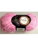 Palette Collection Acrylic Ribbon Yarn: 50g 97 Yds Rose Ribbon Yarn #Pal... - $0.99