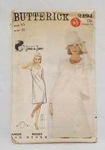 Dress Jacket Semi Fitted Misses Size 10 Bust 31 Butterick 3494 Uncut Vintage - $14.99
