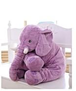 "Purple Elephant Long Nose Sleep Pillow Lovely Plush 25"" inches /63cm - $26.72"
