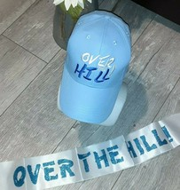 """Unbranded Hat Cap """"Over the Hill"""" with Light Blue Band Celebrate A Speci... - $14.80"""