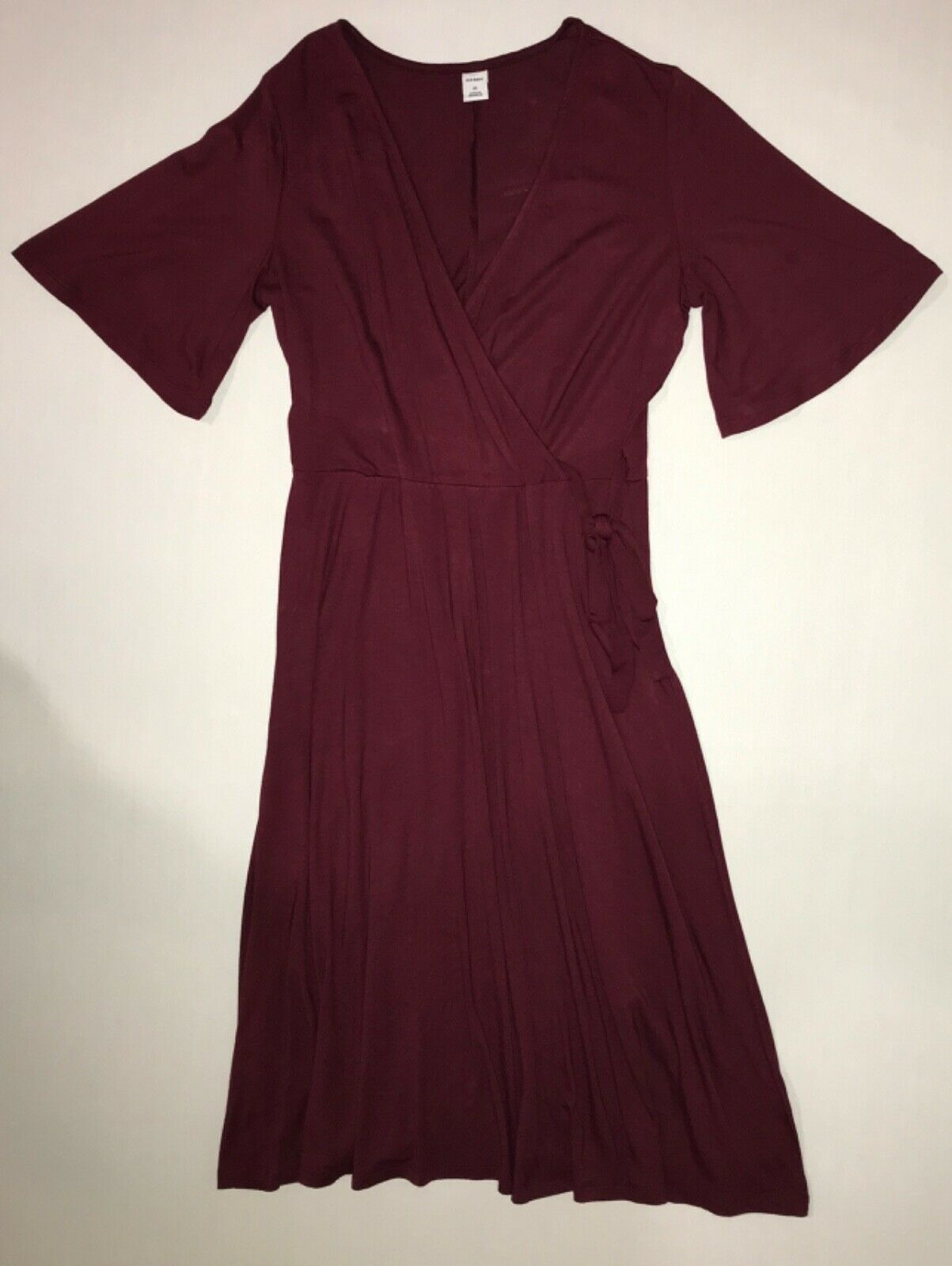Primary image for Old Navy Waist-Defined Bell-Sleeve Faux-Wrap Dress for Women in XS