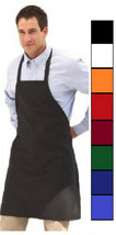 1 new mens cooking kitchen restauarant bib apron dress with pocket color... - $8.99