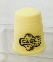 Older Advertising Thimble Case Industrial Cream Plastic M6 - $8.42
