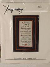 A Special Friend Imaginating Cross Stitch Kit Marilyn Clark Inc. - $18.55