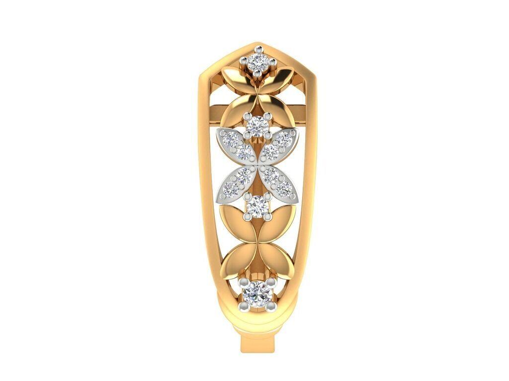 14k yellow gold Genuine  IGI Certified Diamond Huggie earrings Fine Jewelry