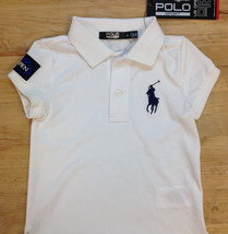 Ralph Lauren Girls' US Open Embroidered Polo, White, Size 4, MSRP $55 - $21.77