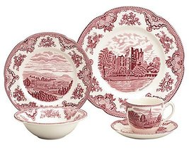 Johnson Brothers 2425620493 Old Britain Castles set of 2 bowls, Pink NEW - $34.50