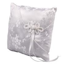 Ivy Lane Design Cherry Blossom Collection, Ring Bearer Pillow, White - $28.13