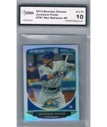 2013 Bowman Chrome Mini Refractor #CC-TR1 Jurickson Profar GMA 10 Gem MT - $49.45