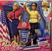 2016 Barbie President & Vice President Blonde and African-American 2 Dol... - $24.26
