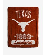 "Texas Longhorns Plush Throw Blanket College Football Official Logo 46""x6... - $22.76"