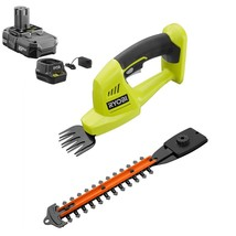 ONE+ 18V Cordless Battery Grass Shear and Shrubber Trimmer with 1.3 Ah B... - $143.62