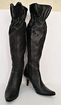 08139b01d BCBG Max Azria Boots black soft leather knee and similar items