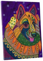 "Pingo World 0708QB3GZDS ""Heather Galler Belgian Tervuren Dog"" Gallery Wr... - $53.41"