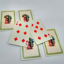 6 Elf Carrying Flowers Playing Cards for Crafting, Re-purpose, Up-cycle, Vintage image 2