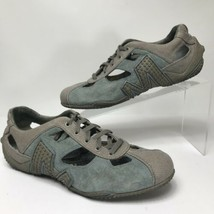 Merrell Women Shoes 7 Relay Skip Blue Suede Hiking Walking Canvas Casual... - $24.74