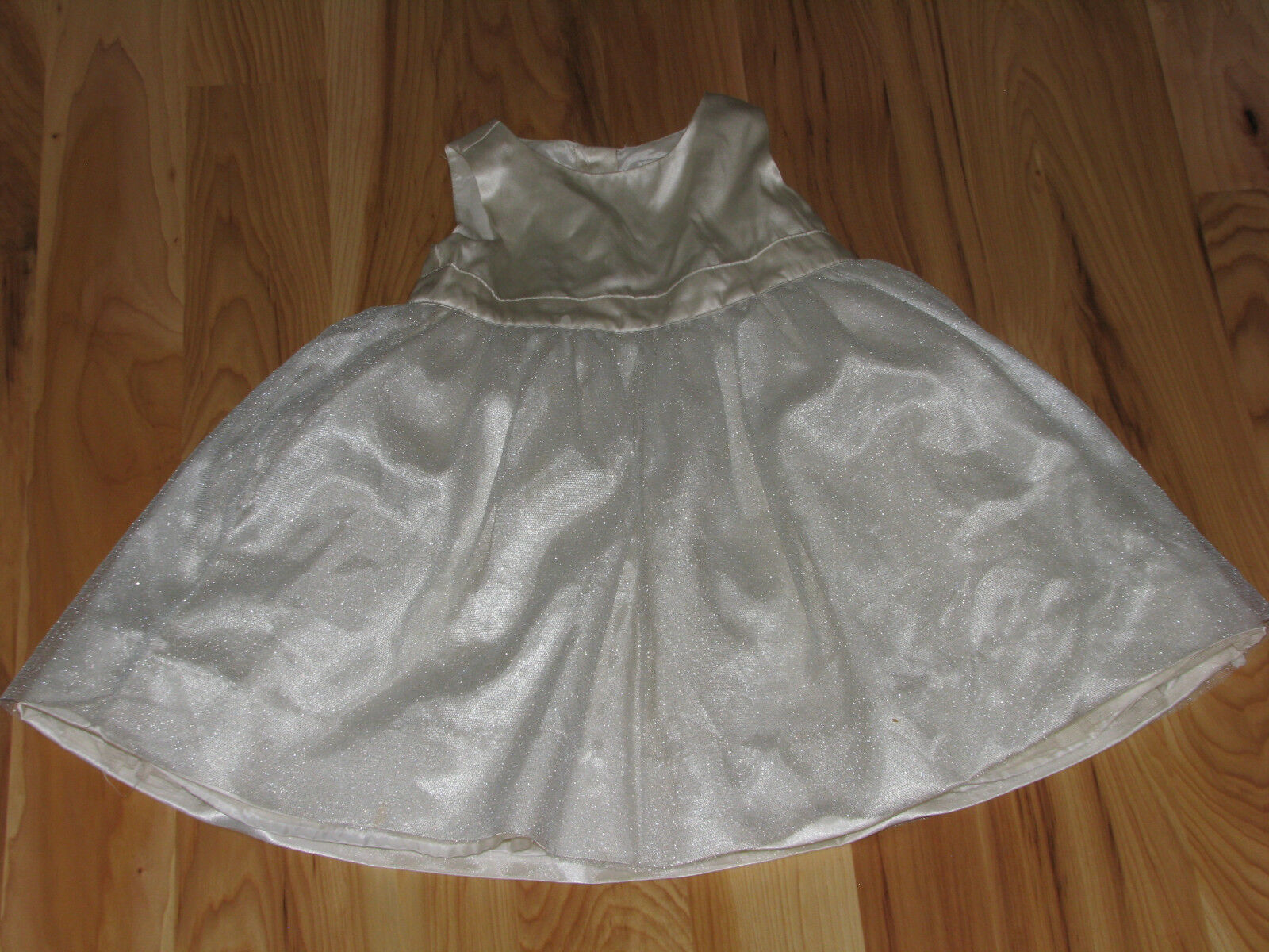 Primary image for BABY GAP GIRLS DRESS IVORY SATIN SILK TULLE SPECIAL OCCASION PARTY 18-24