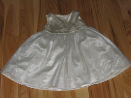 BABY GAP GIRLS DRESS IVORY SATIN SILK TULLE SPECIAL OCCASION PARTY 18-24 - $28.21