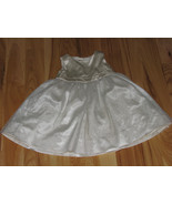 BABY GAP GIRLS DRESS IVORY SATIN SILK TULLE SPECIAL OCCASION PARTY 18-24 - $23.75