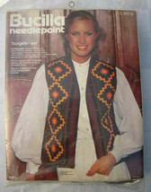 BUCILLA NEEDLEPOINT BARGELLO VEST KIT VINTAGE Florentine Stitch Wool Cre... - $14.24