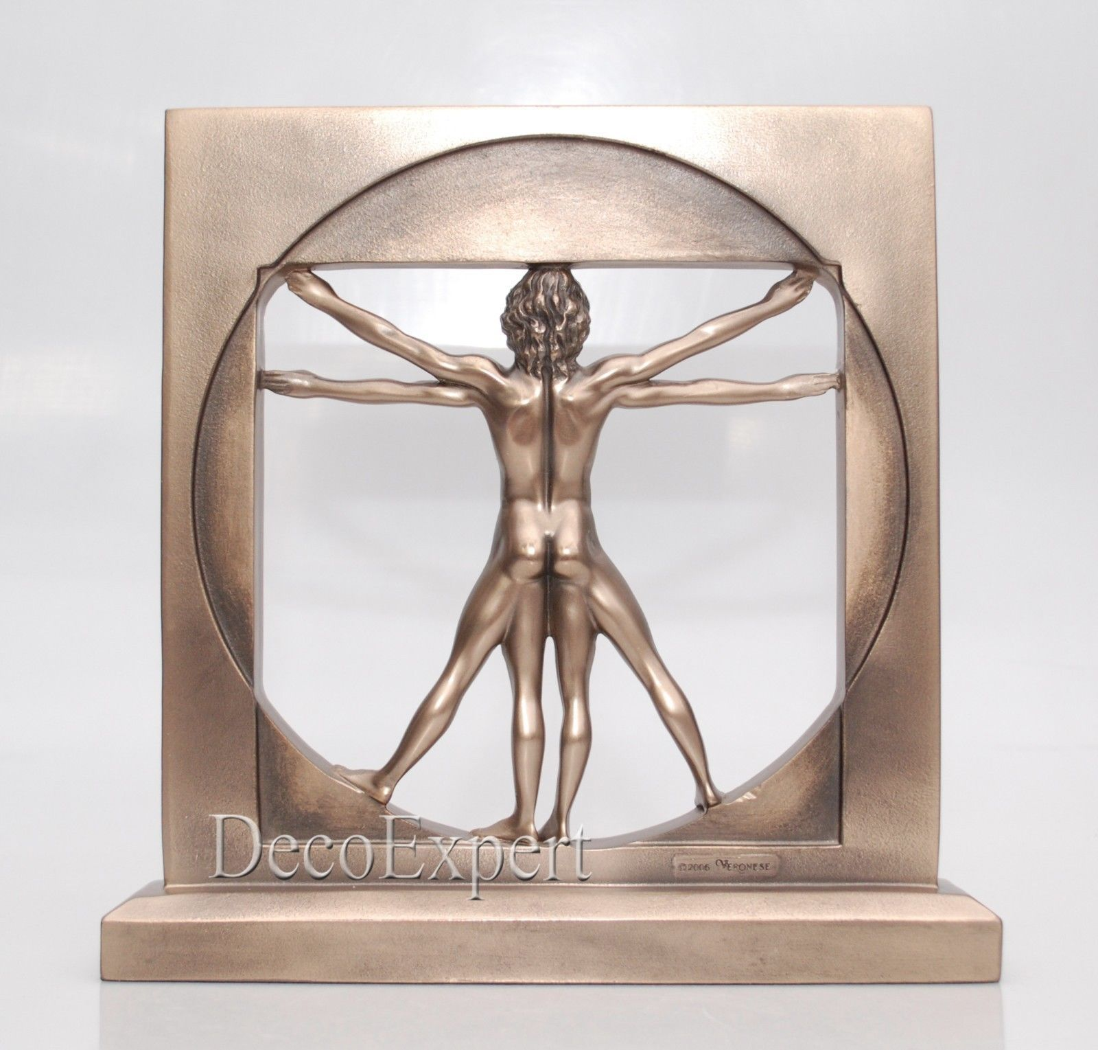 Vitruvian Man Leonardo Da Vinci Leonardo DaVinci Sculpture * Free Shipping