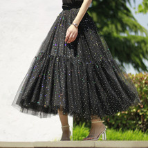 Black Tulle Party Skirt Women Tiered Layered Tulle Skirt Tulle Party Skirt Plus image 10