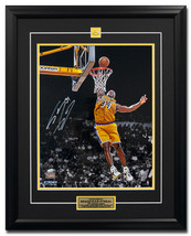 Shaquille O'Neal Los Angles Lakers Autographed Slam Dunk 25x31 Frame: St... - $415.00