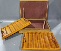 Vintage J Peterman Co Leather Hidden Book Stash Watch Box Made in Italy Secret image 1