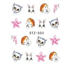 "HS Store -1 Sheets Funny Nail Sticker Water Decals Nail Art Kode ""STZ503"" - $2.52"