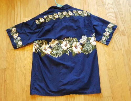 0a29f5c3 Men's Hilo Hattie Made In Hawaii Short Sleeve Floral Hawaiian Shirt - XL