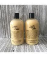 Philosophy Vanilla Birthday Cake Shampoo Shower Gel Bubble Bath Lot 2 X ... - $32.66