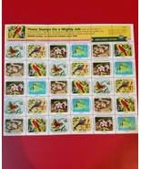 Stamp Sheet Nature of tomorrow 1988 Anniversary Edition E3801 - $7.64