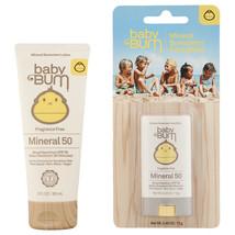 Sun Bum Baby Bum SPF 50 Mineral Sunscreen Lotion Fragrance Free 3 oz & F... - $22.64